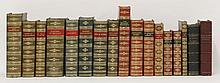 FINE BINDING:  Seventeen leather bound volumes (mostly full leather), c.1890-1910. CONDITION: G+/VG    (17)
