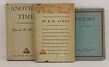 AUDEN, W H: 1. Poems. L, Faber, 1930, 1st. edn., dw(2s. 6d), plus original wrappers. This copy signed by Auden on title page (he crossed his name out and signed in full); plus the original