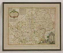Thomas Kitchin,  A New Improved Map of Hartfordshire,  hand coloured engraved map,  54 x 67cm