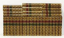 DICKENS, Charles:  The Works, Thirty Volumes,  The illustrated Library Edition, no date, c.1880.  Full Tree calf.  CONDITION: Rubbing and scuffing to covers; o/w G+   (30)