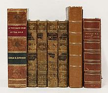 1. EDWARDS, A B: A Thousand Miles Up The Nile. Two volumes. In one, continuous pagination. Longmans, 1877, 1st edn. pp732, two folding maps and illus. CONDITION: Half leather (worn and scuffed); o/w VG; 2. KELLY, C: A Full and Circumstantial Account
