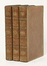 CAMPBELL, T:  Annals of Great Britain from the ascension of George III to the peace of Amiens,  Three volumes. 1807.  Con leather   (3)