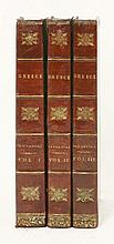 PAUSANIAS:  The Description Of Greece,  Three volumes. 1824, with maps and plates.  Half leather.  CONDITION: Ink stain to fore-edge of one volume; o/w G   (3)