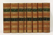 GASPEY, T:  The History of England, from the text of Hume & Smollett.  Eight volumes, nd, c.1880.  With steel engravings.  Half calf   (8)