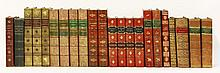 BINDING: Twenty-two volumes including: Goldsmith's works, 1854. Four full leather volumes.; Macaulay's England, 1864. Four volumes, bound in two; Ask Mama, 1858, and Mr Sponge's sporting Tour, 1860, with hand-coloured plates (in matching half