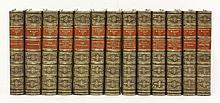 BINDING:  Thackeray, W M: The works,  Thirteen volumes. 1891, half calf   (13)