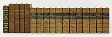 BINDING: 1. Scott, Sir Walter: The Waverley Novels, in twelve volumes. Half calf. CONDITION: VG; 2. Besant, Walter: Four works on London: East London; London; Westminster; and south London. Uniformly bound in half crushed morocco, aeg. CONDITION: VG;