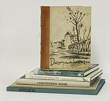 ART BOOKS: 1. Picasso (Illustrator): Cahiers d'Art. 1948, 23e ann'e. Folio, leather backed. CONDITION: VG; 2. Picasso in Antibes. L, Humphries, 1960, 1st. edn. Oblong folio; slipcase. CONDITION: VG; 3. Bevan, R A: Robert Bevan 1865-1925. A memoir by