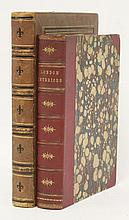 1. LONDON INTERIORS WITH THEIR COSTUMES AND CEREMONIES: A Grand National Exhibition: Two volumes in one, L, Joseph Mead, 1841. With extra engraved title page and 74 steel plates. 4to., Half leather and marbled boards. CONDITION: VG; 2. VALENTINE &