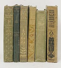 ILLUSTRATED: 1. Rackham, Arthur (Illustrator), J M Barrie: Peter Pan in Kensington gardens. Hodder & Stoughton, nd, (1912). 4to. Illustrated with 50 tipped-in colour plates; green cloth, gilt. CONDITION: Covers worn; endpapers and verso of frontis