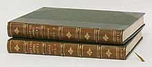MILLAIS, J G: British Diving Ducks, In two volumes, L, Longmans, Green and Co, 1913, limited edn. Number 391 of 450 copies on large paper. Illustrated with coloured and black and white plates. Half leather binding (matching the lot before). A lovely