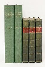DICKENS, Charles: 1. Great Expectations, Three volumes. L, Chapman and Hall, 1861, first editions in book form, first issues with no mention of later editions to title pages. Bound without the adverts at the end of volume 3, but with some first state