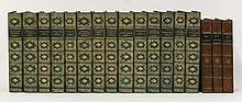 BINDING:  1.  Ainsworth, W. H: Works,  Fourteen volumes.  Half calf;  2.  Guy Fawkes,  Three volumes.  1841, illustrated by George Cruikshank    (17)