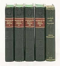 1.  EDGEWORTH, Maria:  Early Lessons,  Four volumes, 1835, rebound in leather backed boards;  2.  Plus one similar volume   (5)