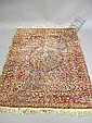 A silk Tabriz rug, 170 x 125cm