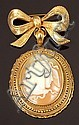 A Victorian carved shell cameo pendant/brooch, the