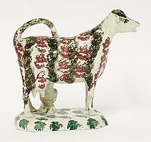 A Staffordshire Cow Creamer,  early 19th century,