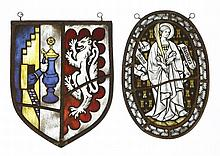 A stained glass panel,by George Kruger Gray (1880