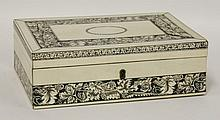 An Anglo-Indian Vizagapatam ivory box, late 19th