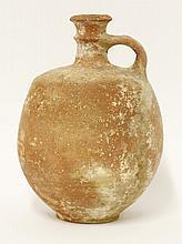 A Kingdom of Judah terracotta ribbed bulbous vase,