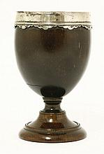A silver-mounted coconut cup, 17th century, with