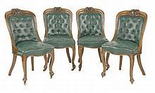 A set of ten Victorian oak single dining chairs,e