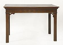 A George III-style mahogany serving table,   prob