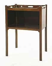 A George III mahogany open cabinet,the raised gal