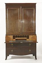 A mahogany secretaire bookcase,early 19th century
