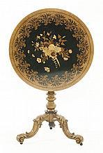 A Victorian oak tripod table,attributed to Seddon