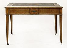 An Edwardian walnut centre library table, the top