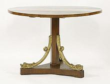 A walnut centre table,early 19th century, possibl