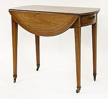 A George III satinwood oval Pembroke table,   c.1