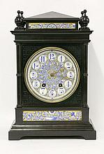 An Aesthetic ebonised mantel clock, after a design