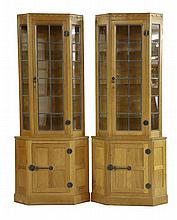 A pair of Robert 'Mouseman' Thompson oak corner