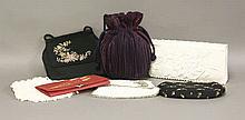 Seven assorted vintage evening handbags (7)