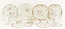 A collection of famille rose porcelain, including