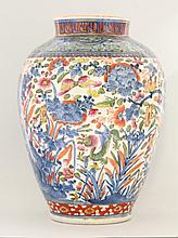 An Arita porcelain Vase, c.1700, later enamelled