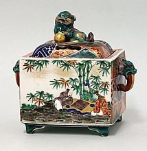 A Kutani Koro and Cover, mid 19th century, the