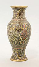 A Cairo mixed-metal Vase, late 19th century, the
