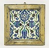 A good Iznik Tile, 1574-75, painted in blue,