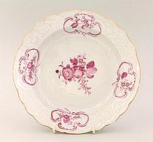A Chinese famille rose soup plate, in Meissen