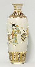 A large 'Satsuma' Vase, Taisho, the dove-grey