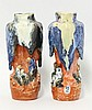 A pair of Sumida Gawa Vases, c.1890, each with