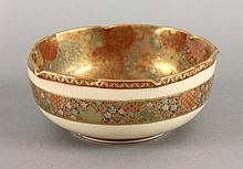 A 'Satsuma' Bowl, c.1900, with notched rim