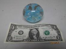 JOE RICE LIGHT BLUE FLOWER PAPER WEIGHT