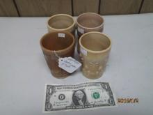 4 CARMEL SLAG CUPS