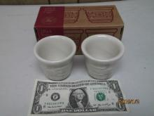2 PACK WHITE VOTIVE CUPS