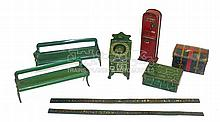 Selection of Hornby O-gauge Station Accessories