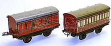 Two Hornby Series O-gauge No.1 LMS Passenger Coaches
